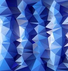 Striped ice blue polygonal triangular pattern vector