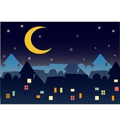 Town night star vector
