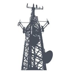 Antenna grunge background vector