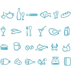 Set handwork icons food vector