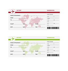 Air ticket world vector