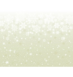 Beige background with snowflakes vector