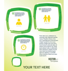Template flyer green bubble effect paint brush vector