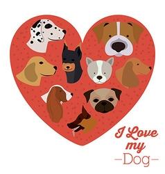 Pets love design vector