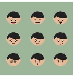 Emotion face cartoon vector