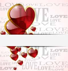 Abstract glossy heart on white vector
