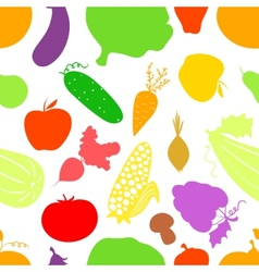 Vegetables seamless pattern background with great vector