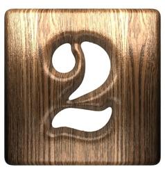 Wooden figure 2 vector