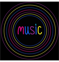 Colorful circles music card vector
