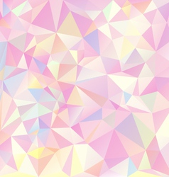 Pink pastel spring polygonal triangular pattern vector