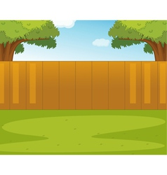 Back yard vector