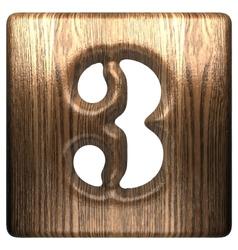 Wooden figure 3 vector