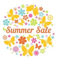 Summer sale badge vector