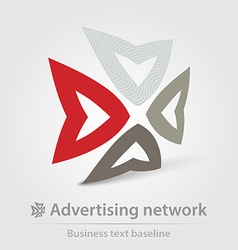 Advertising network business icon vector