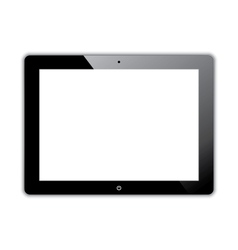 Black computer tablet vector