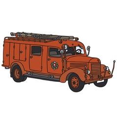 Old firetruck vector