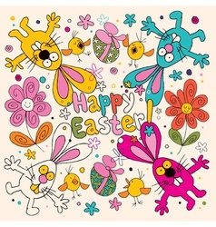 Happy easter card 3 vector