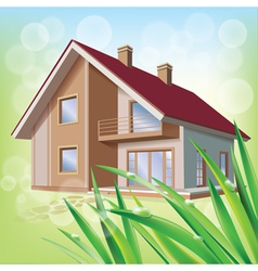 Beautiful eco house vector