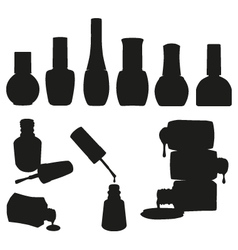 Set of nail polish bottles vector