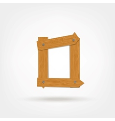 Wooden boards letter o vector
