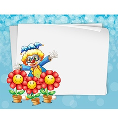 Banner and clown vector