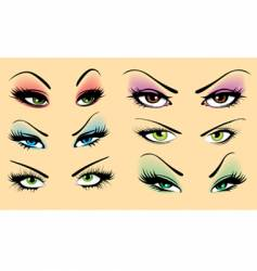 Beautiful makeup vector