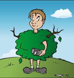 Birdwatcher bush vector