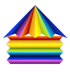 Multicolor building icon vector