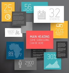 Abstract rectangles infographic template vector