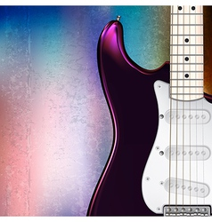 Grunge jazz rock background with electric guitar vector