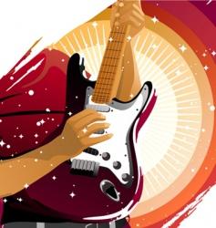 Playing guitar vector