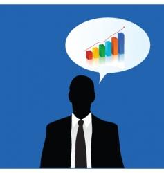 Business growth talk vector