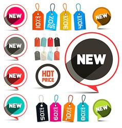Business labels - stickers with new title and vector