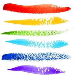 Colorful rainbow paintbrush strokes vector