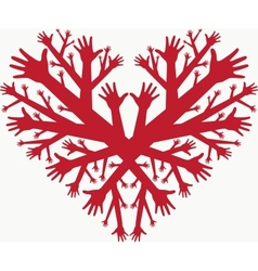 Hearth of hands vector