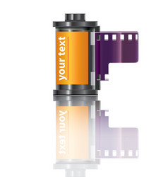 Filmstrip icon vector