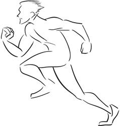 Symbolic rapidly running man vector