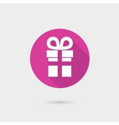Present gift box icon flat design for web and vector