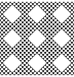 Design seamless monochrome diamond pattern vector