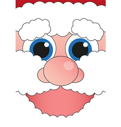 Banner cheerful santa claus vector