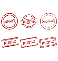 Rugby stamps vector
