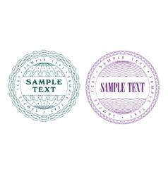 A set of guilloche seal vector