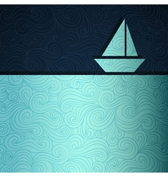 Sailing boat background vector