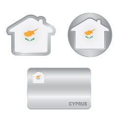 Home icon on the cyprus flag vector