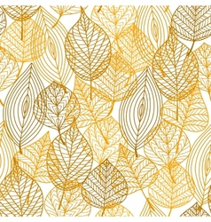 Autumnal leaves seamless pattern vector