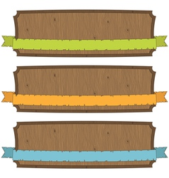 Wooden banners vector