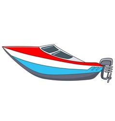 Cartoon motorboat vector