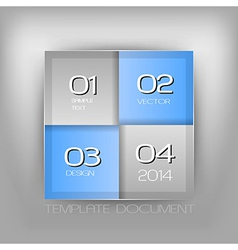 Business four squares blue with text vector