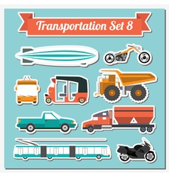 Set of all types of transport icon for creating vector