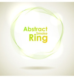Abstract green smoke ring design element vector
